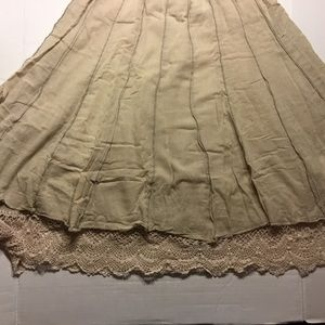 Lapis Skirt with Lace knitting